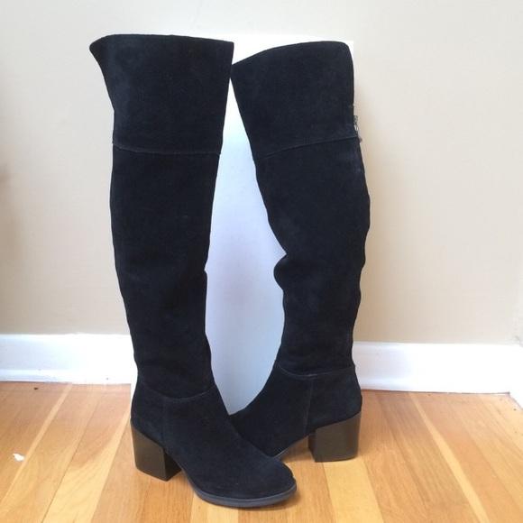 fe4b5f485b8 STEVE MADDEN  Orabela  Black Suede Knee High Boots